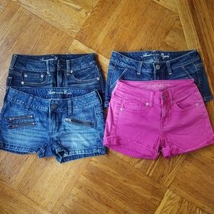 4 pairs of American eagle shorts bundle